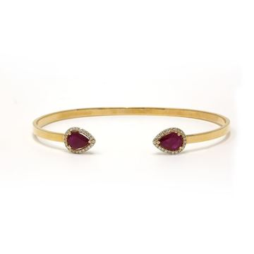 Picture of Diamond and Real Gemstones Bangles