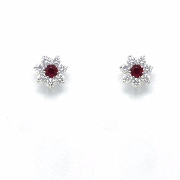 Picture of Elegant Ruby Diamond Earrings