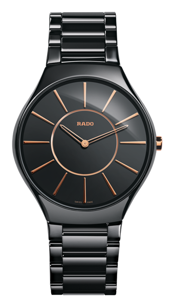 True Thinline Black Stainless Steel Front View