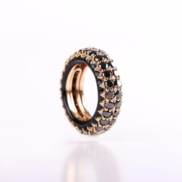 Picture of Elegant Dallago Black Diamond Ring