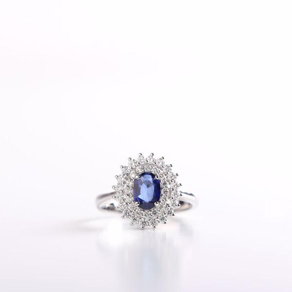 Picture of Harmonious Diamond & Genuine Sapphire Ring
