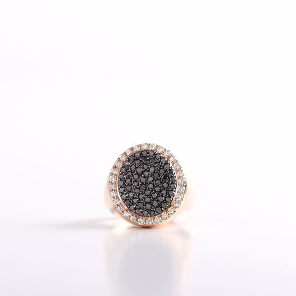 Picture of Captivating Black & White Diamond Pinky Ring