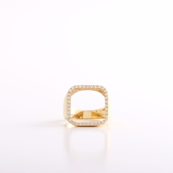 Picture of Elegant Pinky Square Diamond Ring