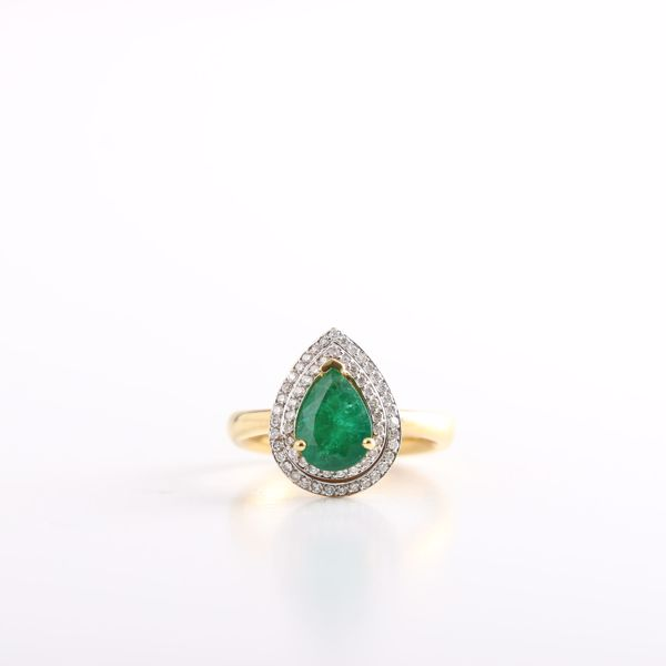 Picture of Decent Pear Emerald Ring