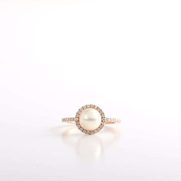 Picture of Classy Pearl & Diamond Ring