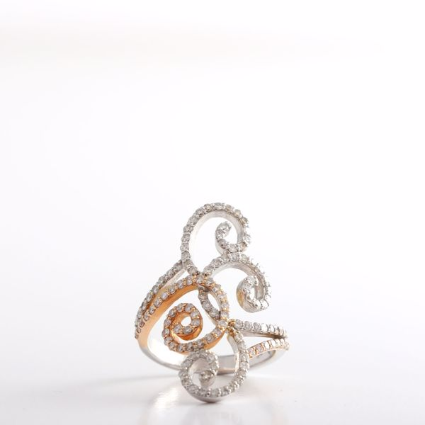 Picture of The Twisted Two Tones Diamond Ring