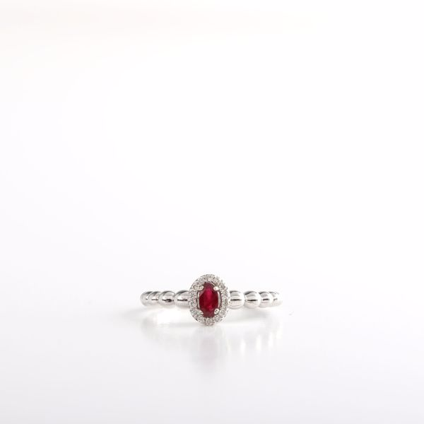 Picture of Beautifully Elegant Diamond & Ruby Ring