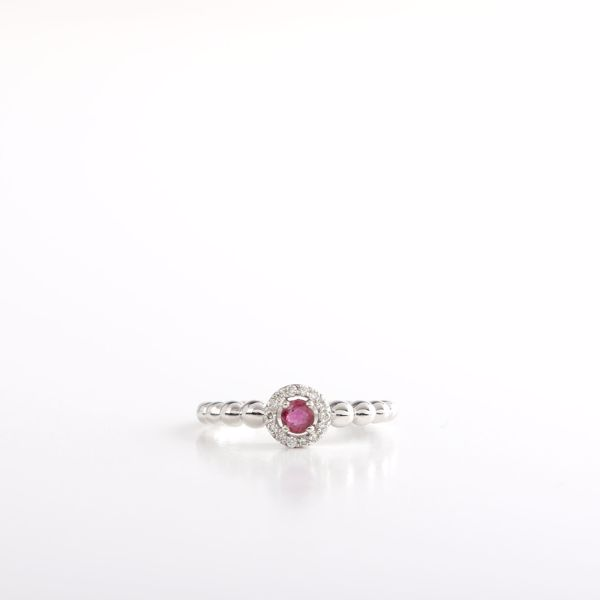Picture of Lovely Ruby & Diamond Ring
