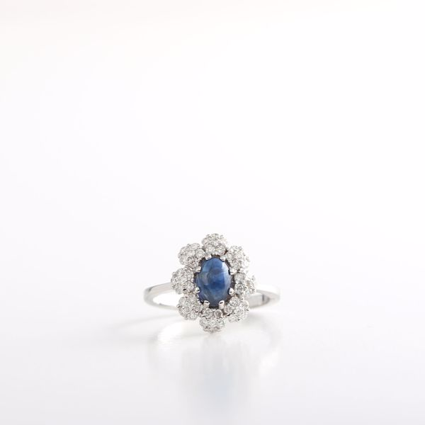 Picture of Majestic Sapphire & White Diamond Ring
