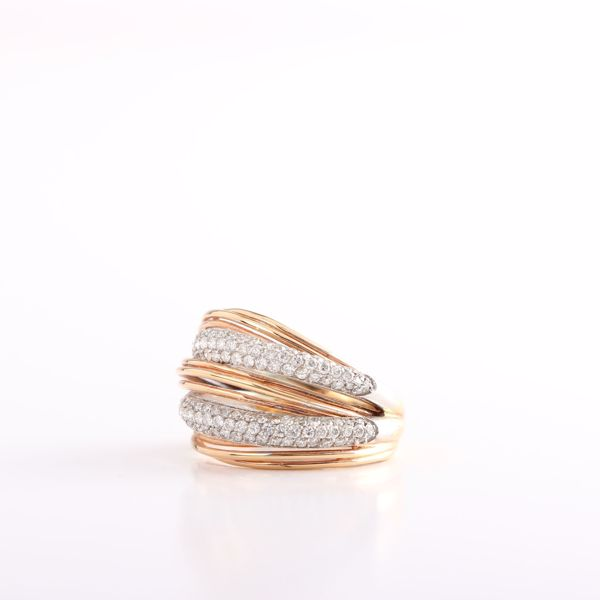 Picture of Perfectly Layered Gold & Diamond Ring