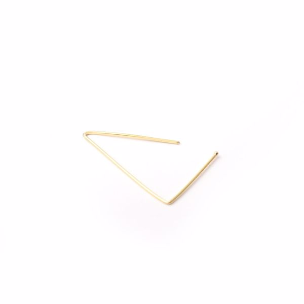 J.R.S. Triangle Hoop Earring Top view