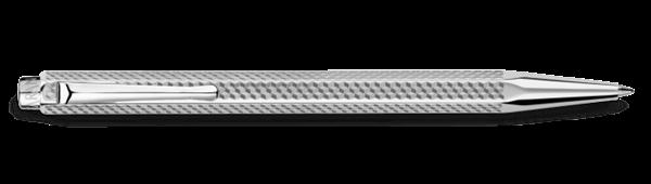 Palladium-Coated Ecridor Cubrik Ballpoint Pen Horizontal View