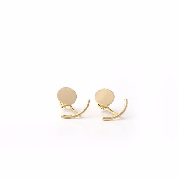 J.R.S. Round Shape Earrings Front View
