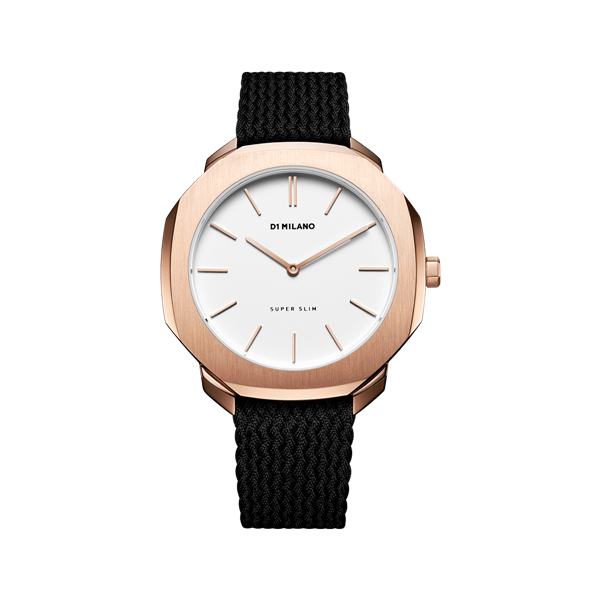 White&Rose Gold Case Super Slim 36mm Front View