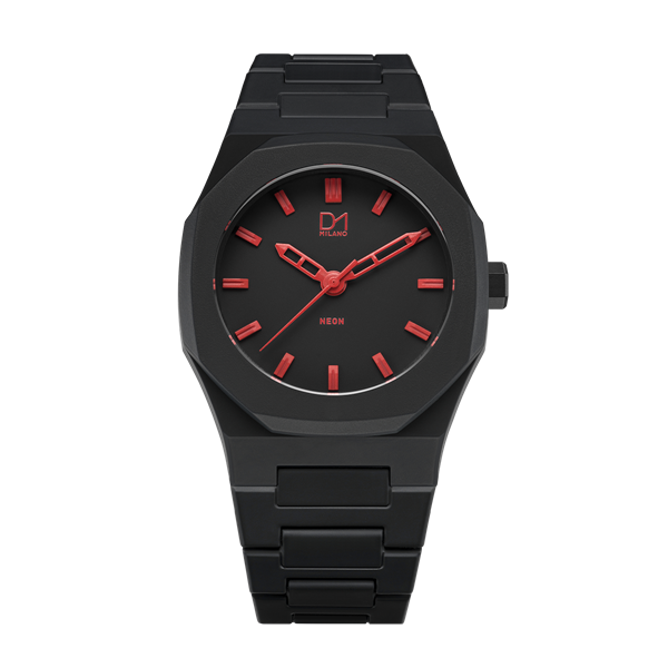 Red Neon Polycarbon 40.5 mm Front View