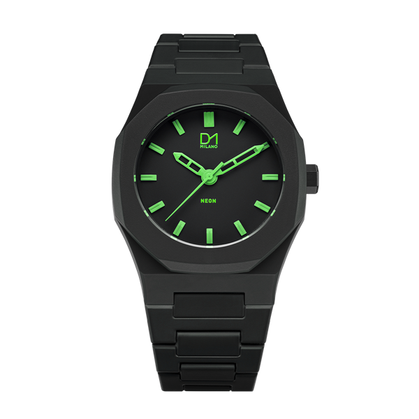 Green Neon Polycarbon 40.5 mm Front View
