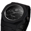 Black Marble Polycarbon 40.5 mm Side View