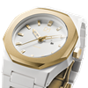 White&Gold Polycarbon 40.5 mm Side View