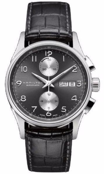 812e5c377 Hamilton Jazzmaster Maestro Auto chrone Black Steel/Leather | Joud ...