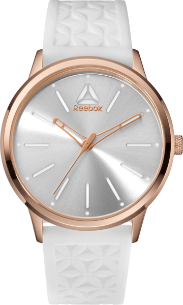 Chelsea Sunray White Rose Gold Front View