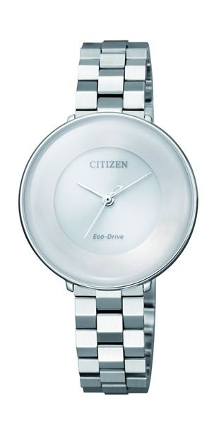 Analog White Dial Front View