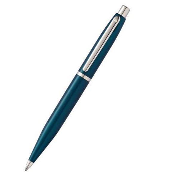 VFM Metal Barrel Peacock Blue Ballpoint Pen Oblique View