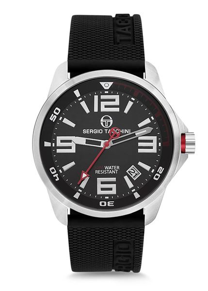 Streamline Black Strap&Dial Front View