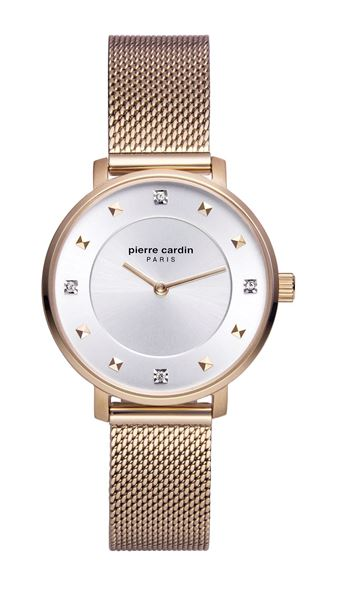 Ladies Brochant Crystals Rose Gold Front View