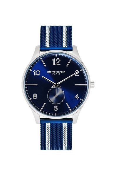 Gents Navy Stainless Steel Bracelet Front View