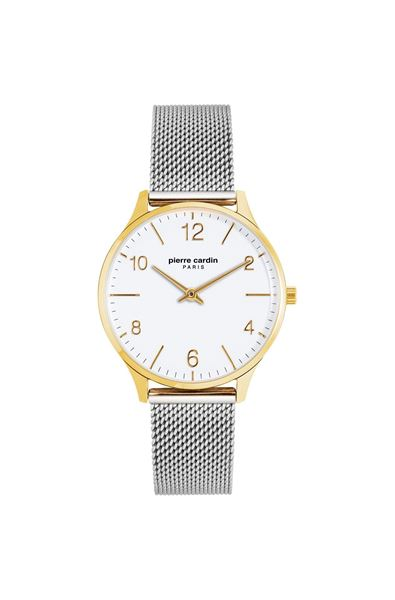 Ladies Stainless Steel Gold Case Front View