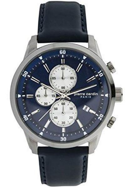 Gents Navy Dial&Leather Starp Front View