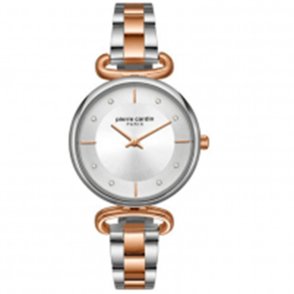 Ladies Two Tone Rose Gold&Silver Front View
