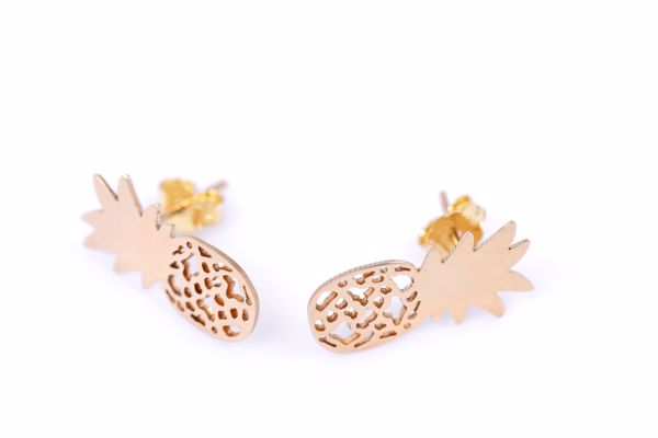J.R.S. Pineapple Earrings Front View