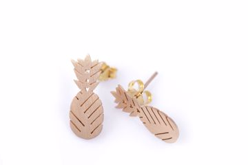 J.R.S. Aligned Pineapple Earrings Front View