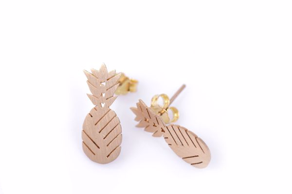 J.R.S. Aligned Pineapple Earrings Front View