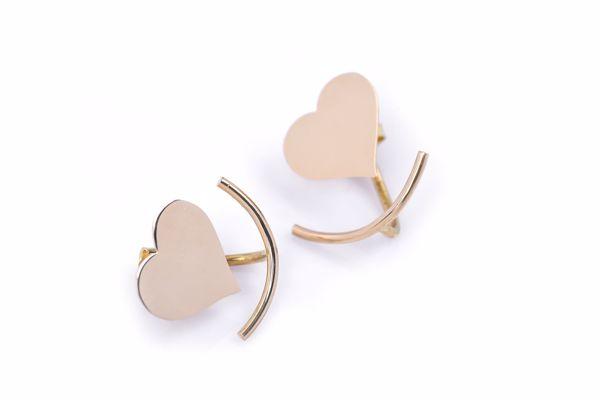 J.R.S. Heart Shaped Earrings Front View