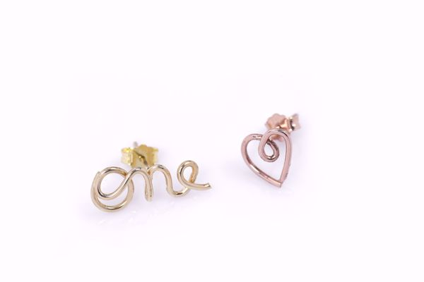 J.R.S. One Love Wire Earrings Front View