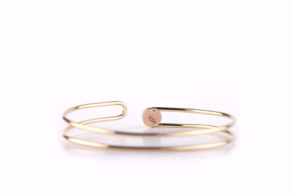 J.R.S. Double layer Bangle Front View