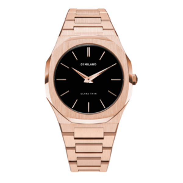 D1 Milano Ultra Thin Bracelet 40 MM Rose Gold Front View