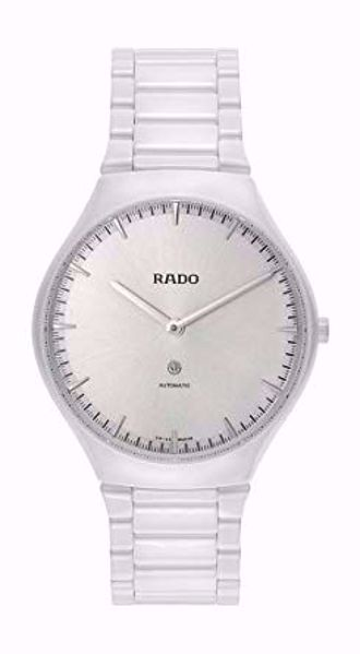Rado Thin-line White Dial Automatic Ceramic Watch Front View