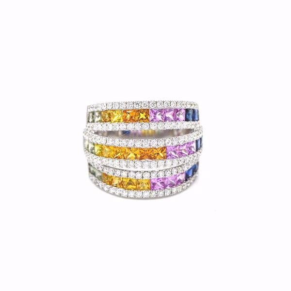 Picture of Marvellous Rainbow Sapphire & Diamond Ring