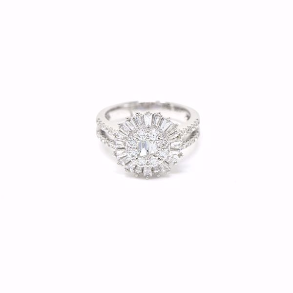 Picture of Diamond Halo Illusion Set Ring
