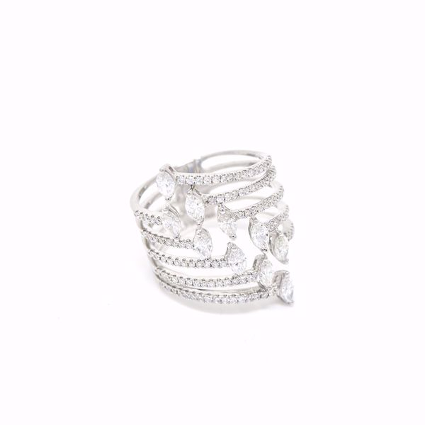 Picture of Shimmery Stacked Diamond Ring