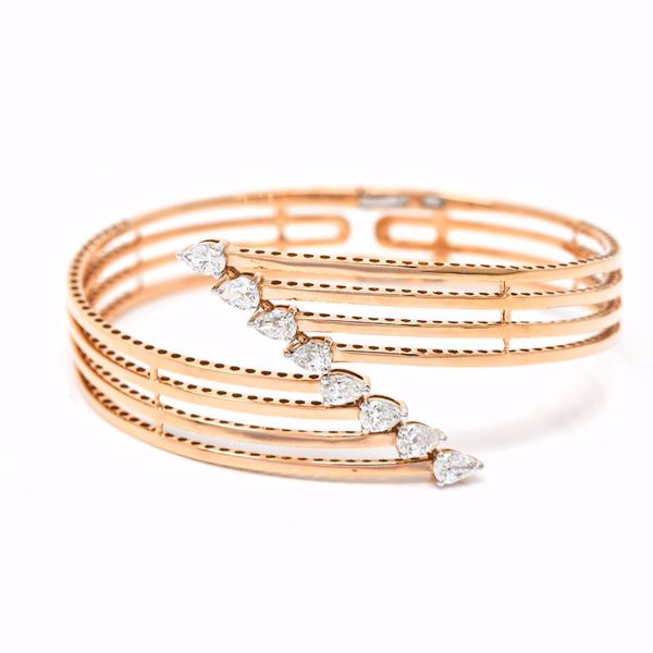 Picture of Pink Diamond Stacked Bangle