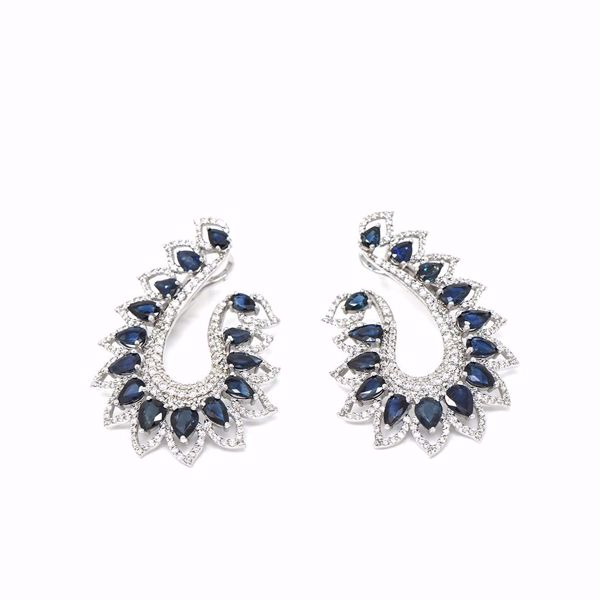 Picture of Magnificent Diamond & Sapphire Earrings