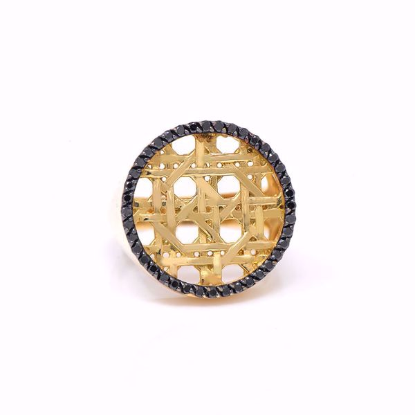 Picture of The Glamorous Black Diamond Knot Ring