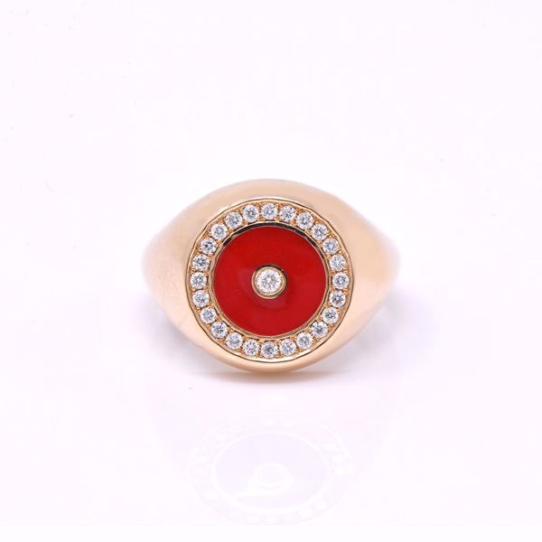 Picture of Impressive Red Pinky Diamond Ring