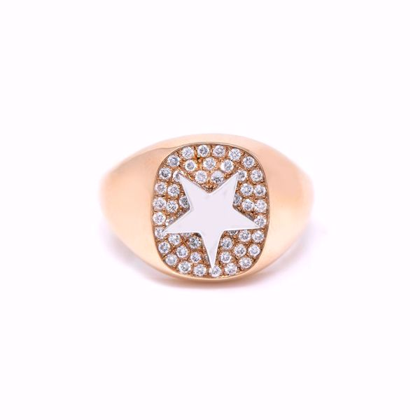Picture of Star Diamond Pinky Ring