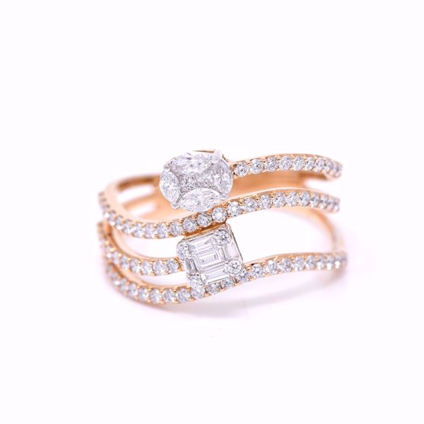 Picture of Wavy Stacked Diamond Ring