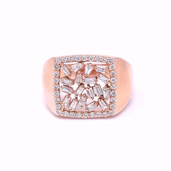 Picture of Modern Square Diamond Pinky Ring